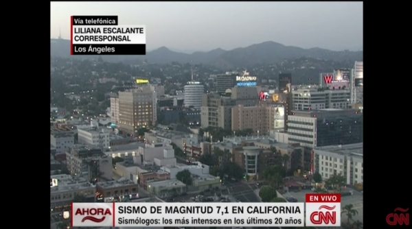 Video del Impresionante terremoto en California